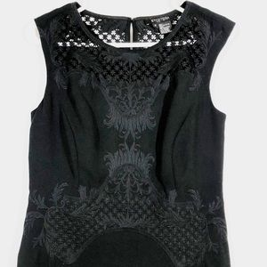 ETCETERA EMBROIDERED BLACK SHIFT DRESS - SZ 2